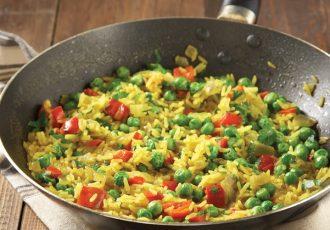 ρύζι με λαχανικά στο τηγάνι γουοκ συνταγη συνοδευτικο