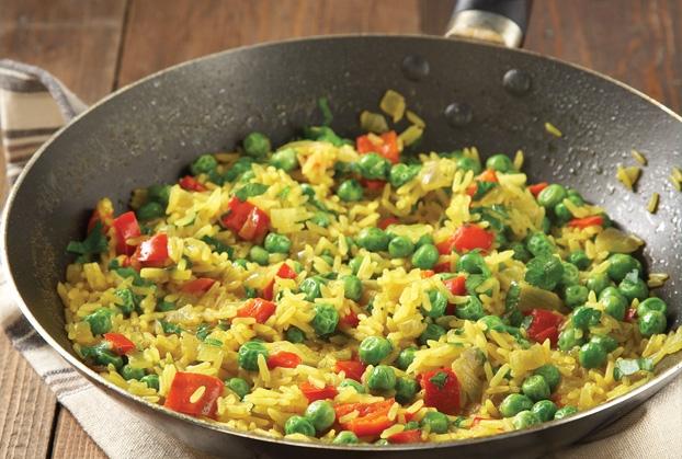 Ρύζι με λαχανικά και κιτρινόριζα