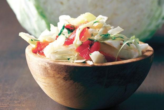 Σαλάτα λάχανο με πιπεριά