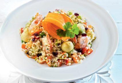 Σαλάτα με πλιγούρι γαρίδες και ταχίνι-featured_image