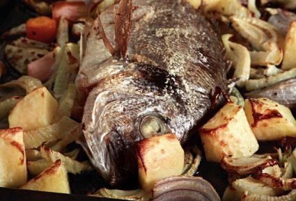 Σανπιέρος στο φούρνο με ψητά λαχανικά-featured_image