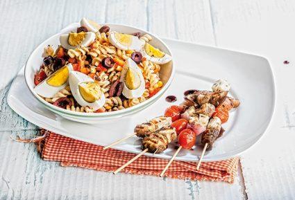 Σουβλάκι λαχανικών με μακαρονοσαλάτα-featured_image
