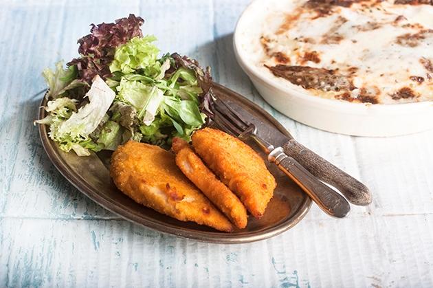 Σνίτσελ κοτόπουλο στο φούρνο ή στο τηγάνι