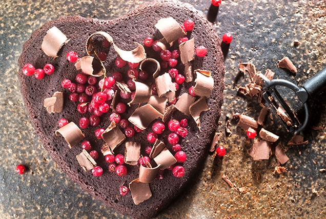 τούρτα σε σχήμα καρδιάς γενεθλίων αγίου βαλεντίνου