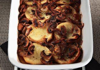πατάτες με μανιτάρια στο φούρνο