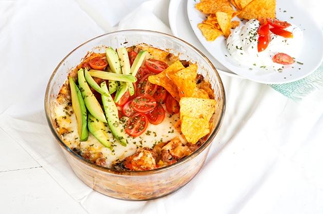 Τάκος με κιμά και λαχανικά