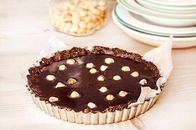 Νηστίσιμητάρτα με σοκολάτα χωρίς ψήσιμο