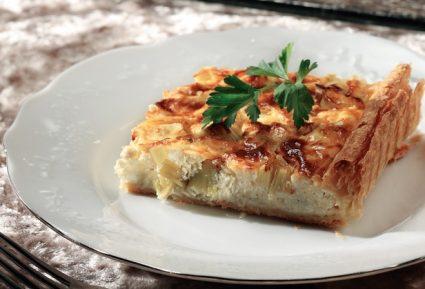 Τάρτα με πράσο και κρέμα τυριών-featured_image