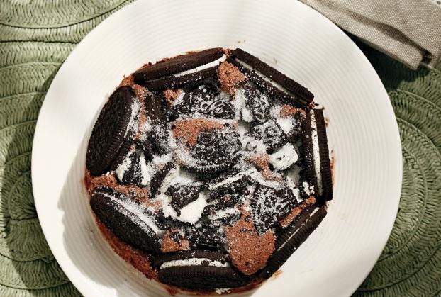 Τούρτα μους σοκολάτας με μπισκότα