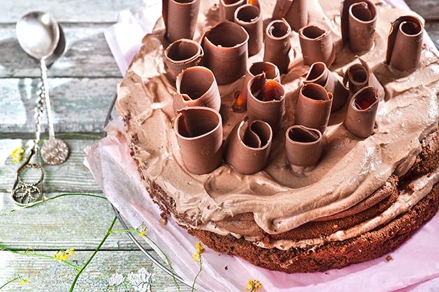 Τούρτα σοκολατίνα με κρέμα σοκολάτας chocoholic