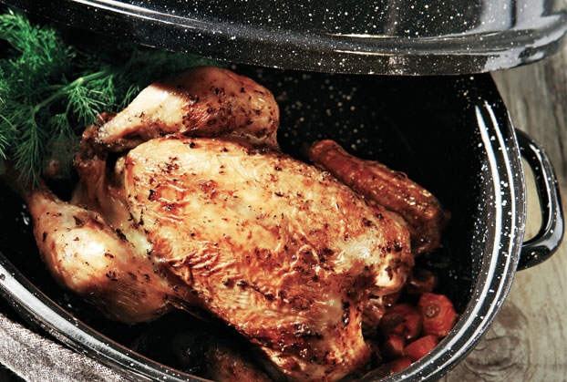 Τραγανό κοτόπουλο φούρνου με λεμονάτη σάλτσα