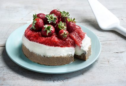 Cheesecake με ζελέ φράουλα-featured_image