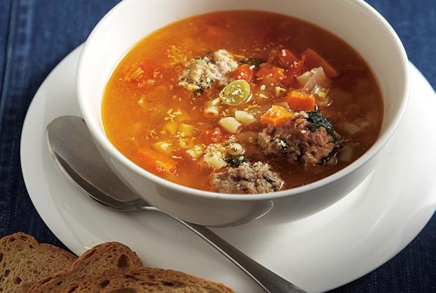 Χειμωνιάτικη σούπα με κεφτεδάκια
