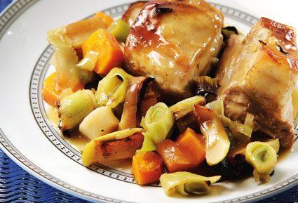 Χοιρινό χτένι στο φούρνο με σάλτσα μουστάρδας-featured_image