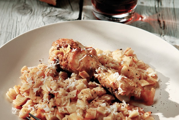 Χωριάτικο κοτόπουλο με χυλοπιτάκι