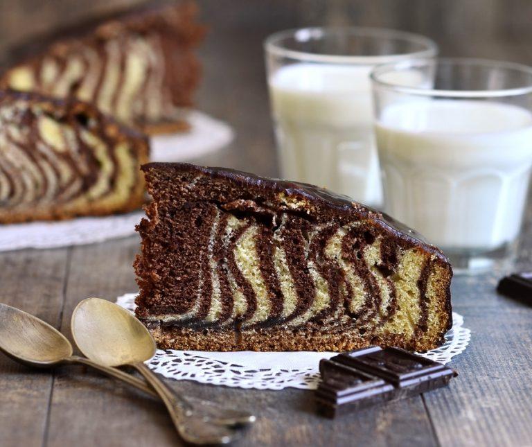 Κέικ ζέβρα βανίλια – σοκολάτα