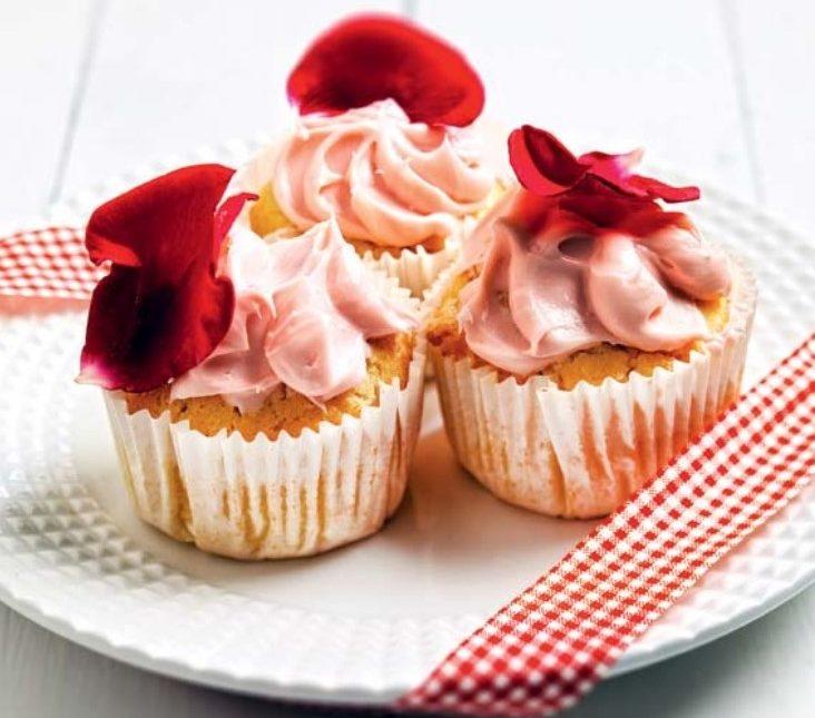 Ροζ cupcakes τριαντάφυλλο