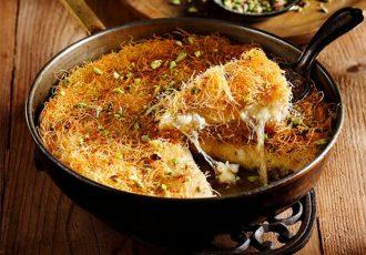 αυθεντικη συνταγη κιουνεφέ πολιτικο γλυκο με τυρι και κανταΐφι