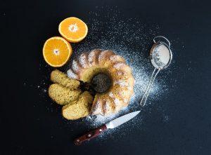 νηστίσιμο κέικ πορτοκάλι