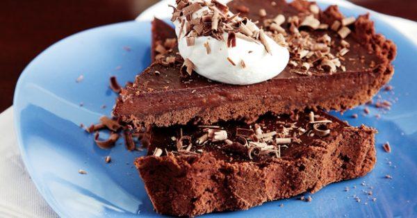 Σοκολατένια τάρτα γλυκια με σοκολατα