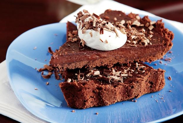 Σοκολατένια τάρτα µε κρέµα σοκολάτας