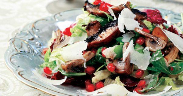 μανιτάρια σαλάτα της Αργυρώς