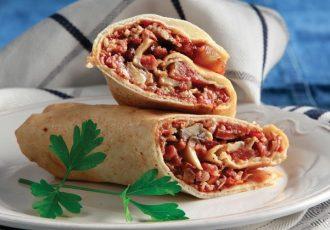 σάντουιτς με αραβική πίτα