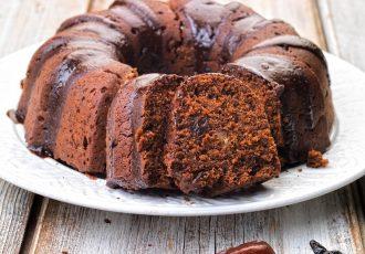 κέικ δαμάσκηνο με σοκολατα συνταγη αργυρω