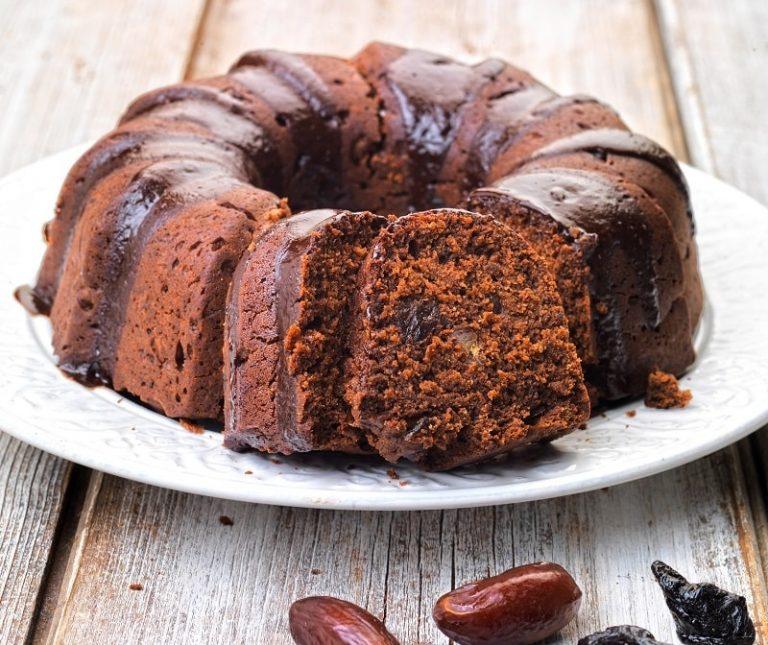 Κέικ δαμάσκηνο με σοκολάτα