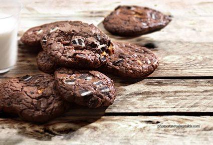 Μπισκότα (Cookies) διπλής σοκολάτας-featured_image