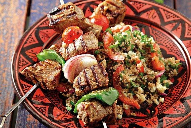 Σις κεμπάπ (domatesli sis kebab) της Αργυρώς