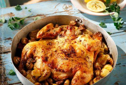 Λεμονάτο κοτόπουλο με τσακιστές πατάτες και μανιτάρια-featured_image