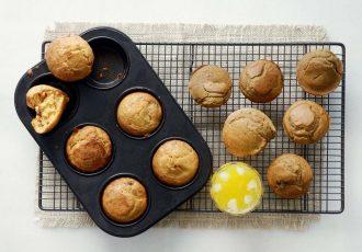Muffins με ελιές και αλεύρι ολικής άλεσης της Αργυρώς-featured_image
