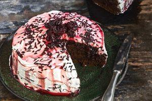 νηστίσιμη τούρτα black forest συνταγη