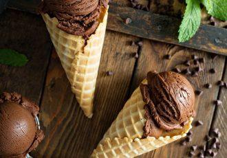 ευκολο παγωτό σοκολάτα χωρίς παγωτομηχανή