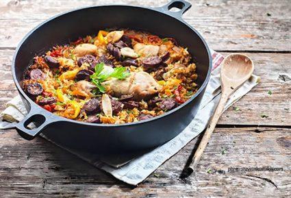 Πιλάφι τρικολόρε (Κοτόπουλο με λαχανικά και ρύζι)-featured_image