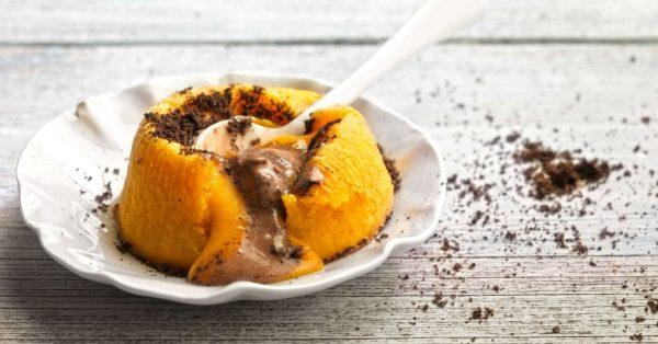 πορτοκαλιου σουφλέ πορτοκάλι με παγωτό κακάο