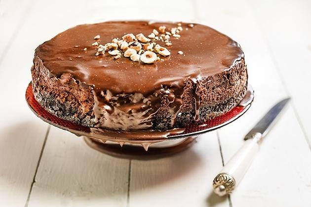 Cheesecake σε 3 σοκολατένιες στρώσειs