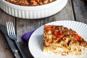 Τυρόπιτα Σουφλέ με χοιρομέρι και ντοματίνια-featured_image