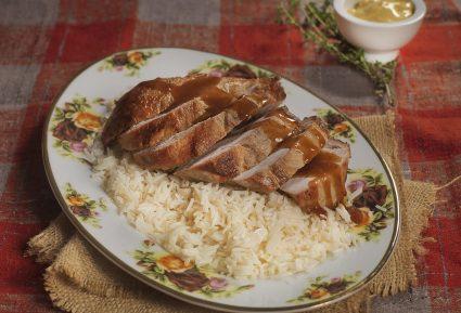 Χοιρινό με σάλτσα μουστάρδας στη γάστρα-featured_image