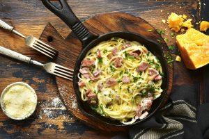 αυθεντικη ιταλικη καρμπονάρα με αυγο συνταγη