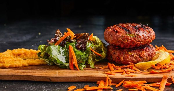 μπιφτέκια με λαχανικά και βρωμη συνταγη αργυρω