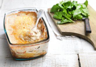 εύκολη πατατόπιτα χωρίς φύλλο με κρέμα και μανιτάρια συνταγη