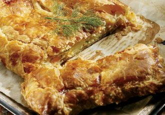 πίτα με ψάρι ψαρόπιτα σολομο και τυρι κρεμα