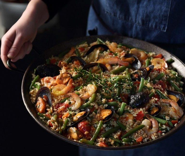 Ρύζι με μύδια και γαρίδες
