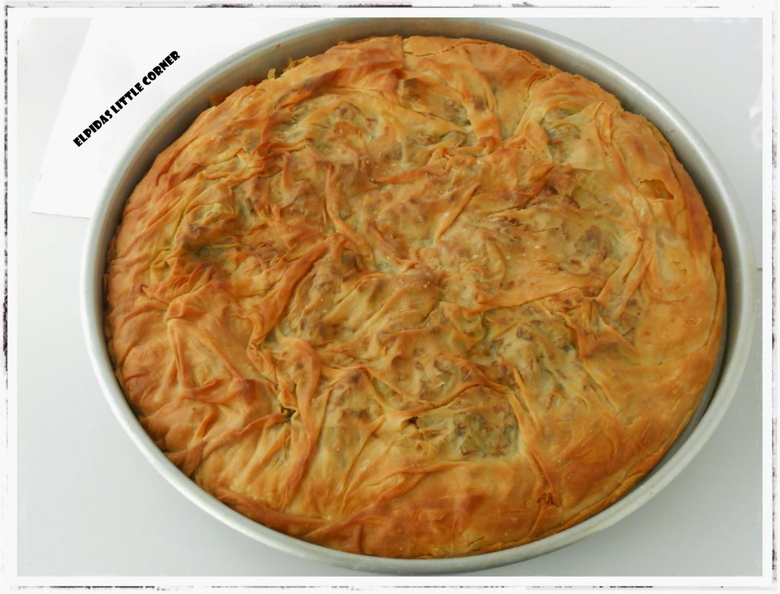 Χορτόπιτα, της Ελπίδας Χαραλαμπίδου (Elpida's little corner)