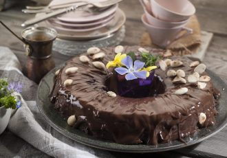χαλβάς με σοκολάτα σιμιγδαλένιος