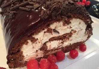 Κορμος με παντεσπάνι σοκολάτας συνταγη