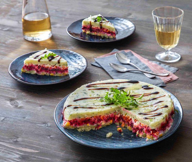 Σαλάτα τούρτα παντζάρι της Αργυρώς