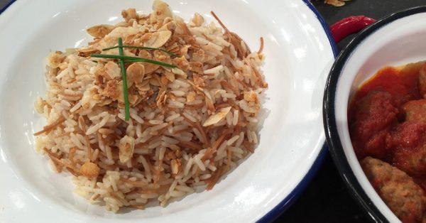ρύζι πιλάφι αμυγδάλου